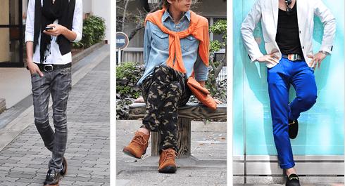 男のファッション例